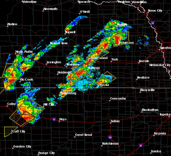 Radar Image for Severe Thunderstorms near Grand Island, NE at 10/2/2017 8:04 PM CDT