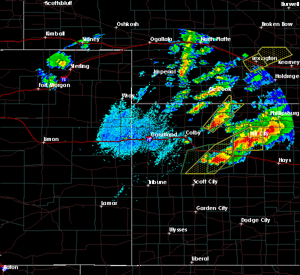 Radar Image for Severe Thunderstorms near Oberlin, KS at 10/2/2017 10:06 PM CDT