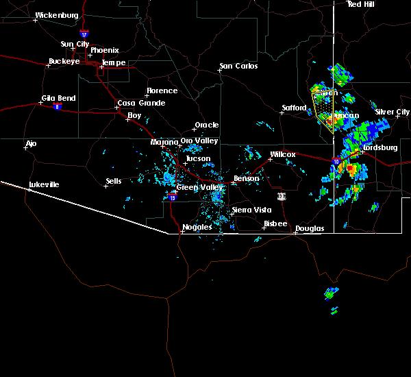 Radar Image for Severe Thunderstorms near Duncan, AZ at 10/4/2017 3:45 PM MST