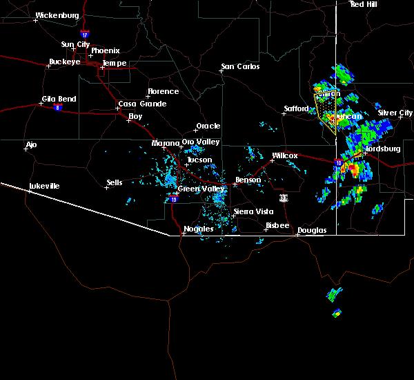Radar Image for Severe Thunderstorms near Duncan, AZ at 10/4/2017 3:50 PM MST