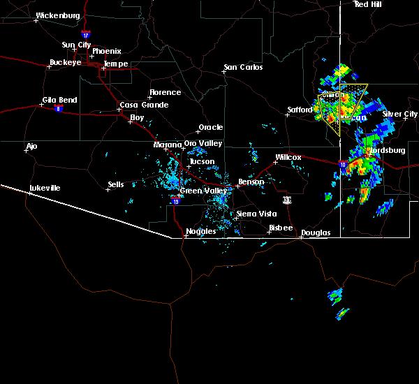 Radar Image for Severe Thunderstorms near Duncan, AZ at 10/4/2017 4:08 PM MST