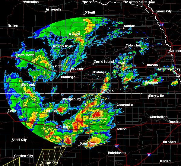 Radar Image for Severe Thunderstorms near Mankato, KS at 10/6/2017 6:54 PM CDT