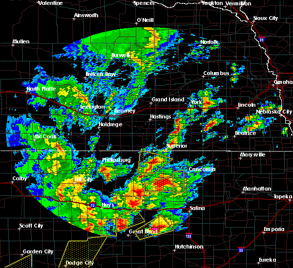 Radar Image for Severe Thunderstorms near Mankato, KS at 10/6/2017 7:07 PM CDT