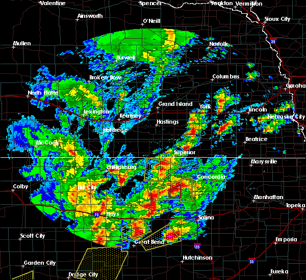 Radar Image for Severe Thunderstorms near Mankato, KS at 10/6/2017 7:22 PM CDT