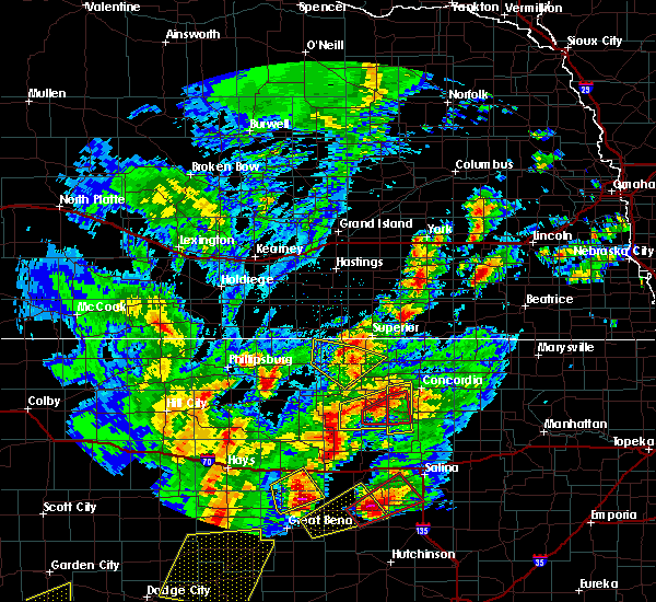 Radar Image for Severe Thunderstorms near Mankato, KS at 10/6/2017 7:26 PM CDT