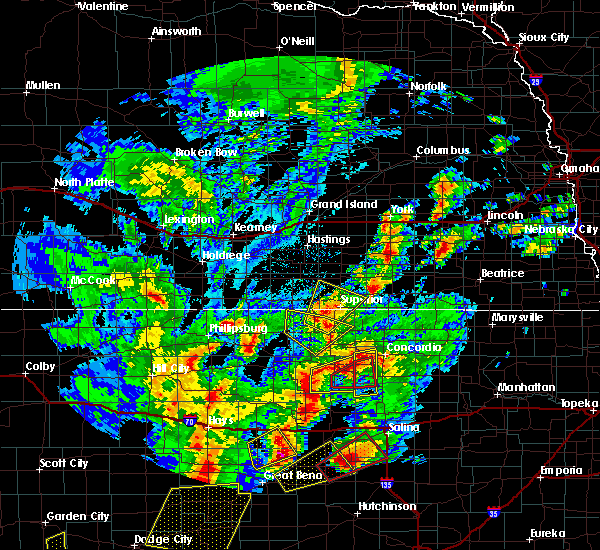 Radar Image for Severe Thunderstorms near Mankato, KS at 10/6/2017 7:28 PM CDT