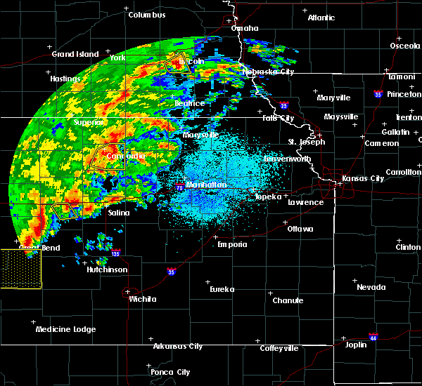 Radar Image for Severe Thunderstorms near Agenda, KS at 10/6/2017 8:24 PM CDT