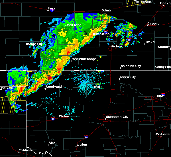 Radar Image for Severe Thunderstorms near Woodward, OK at 10/6/2017 10:04 PM CDT