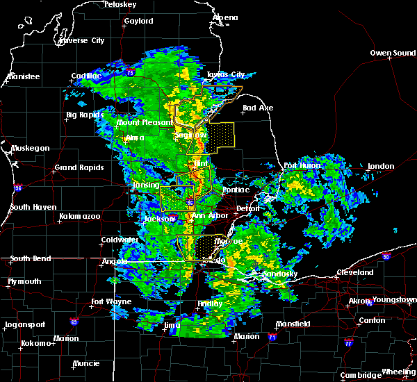 Radar Image for Severe Thunderstorms near Toledo, OH at 10/7/2017 10:32 PM EDT
