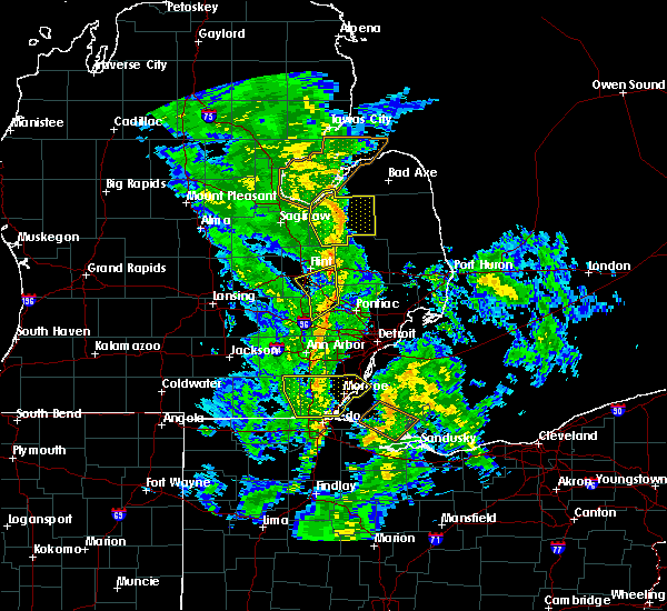 Radar Image for Severe Thunderstorms near Toledo, OH at 10/7/2017 10:44 PM EDT