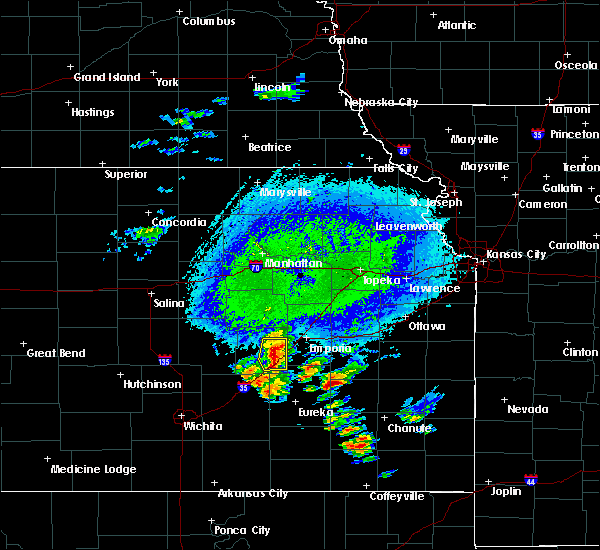 Radar Image for Severe Thunderstorms near Strong City, KS at 10/9/2017 4:04 PM CDT