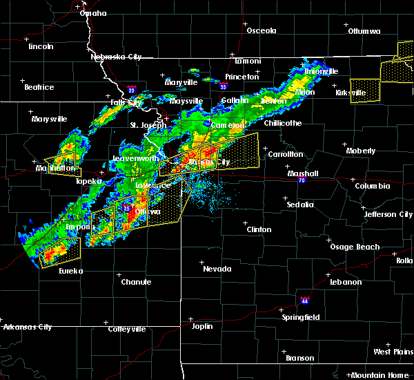 Radar Image for Severe Thunderstorms near Sibley, MO at 10/14/2017 5:32 PM CDT