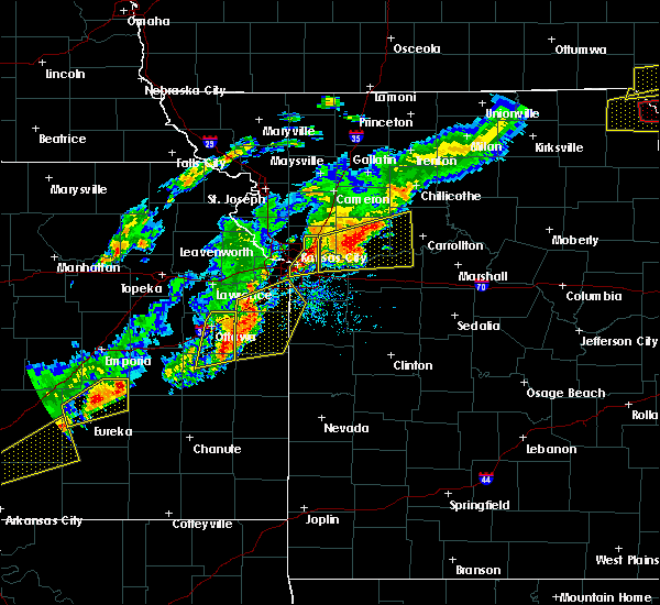 Radar Image for Severe Thunderstorms near Henrietta, MO at 10/14/2017 5:44 PM CDT