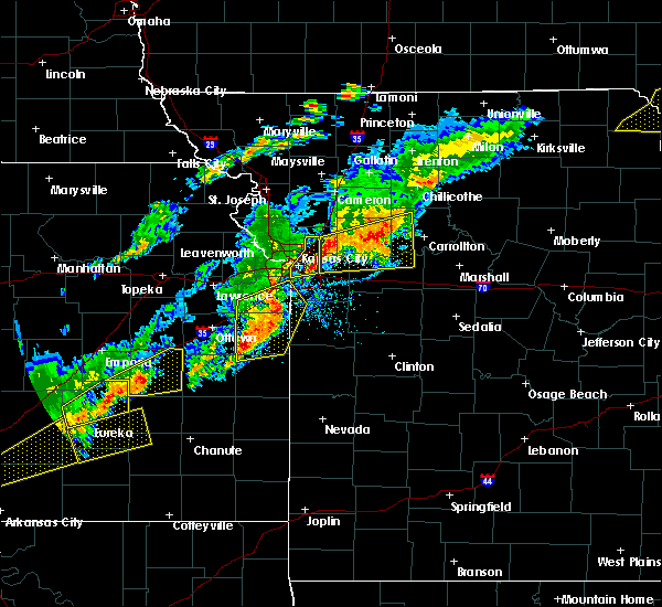 Radar Image for Severe Thunderstorms near Sibley, MO at 10/14/2017 5:57 PM CDT