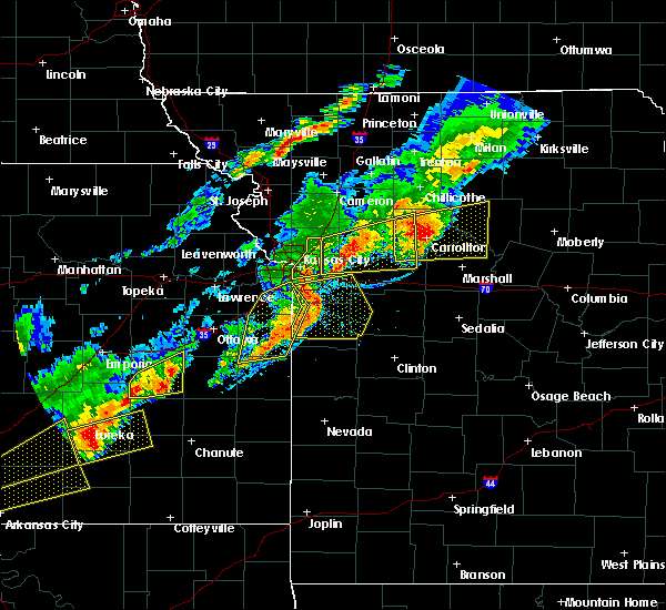 Radar Image for Severe Thunderstorms near Sibley, MO at 10/14/2017 6:18 PM CDT