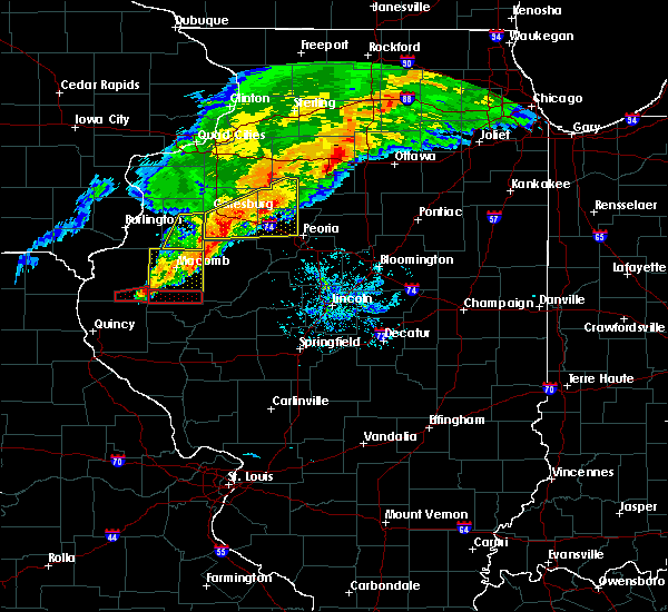 Radar Image for Severe Thunderstorms near Farmington, IL at 10/14/2017 6:42 PM CDT
