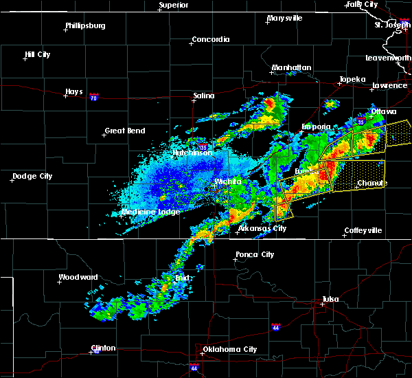 Radar Image for Severe Thunderstorms near Fredonia, KS at 10/14/2017 6:42 PM CDT