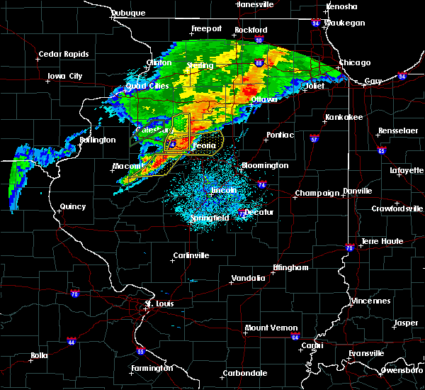 Radar Image for Severe Thunderstorms near Canton, IL at 10/14/2017 7:10 PM CDT