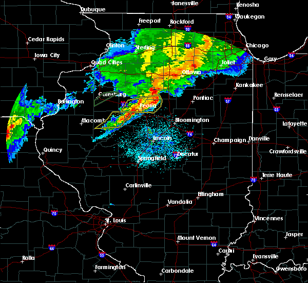 Radar Image for Severe Thunderstorms near Canton, IL at 10/14/2017 7:25 PM CDT
