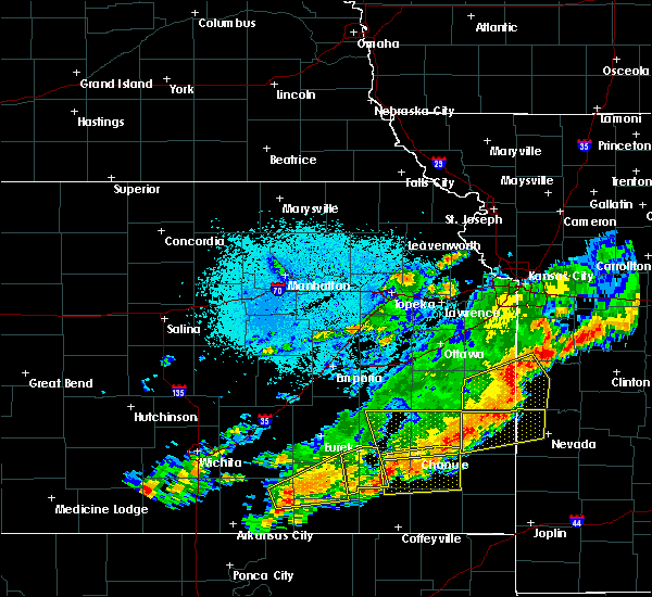 Radar Image for Severe Thunderstorms near Gas, KS at 10/14/2017 7:43 PM CDT