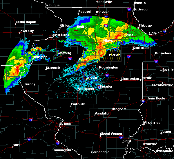 Radar Image for Severe Thunderstorms near Peoria, IL at 10/14/2017 7:53 PM CDT