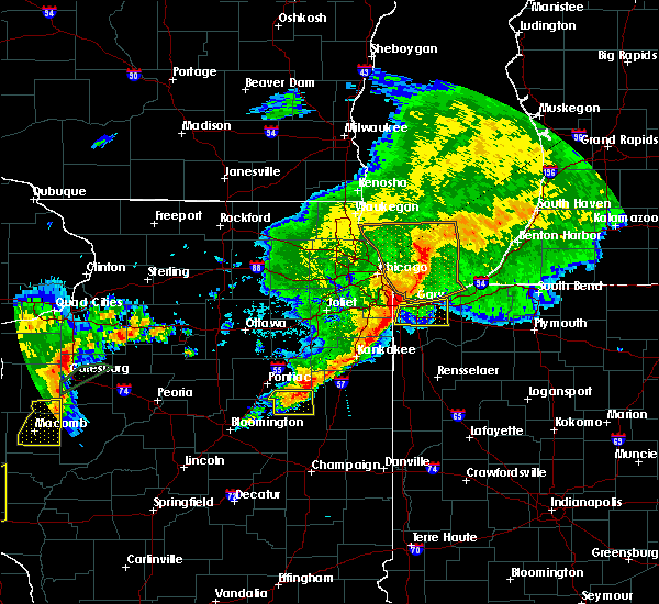 Radar Image for Severe Thunderstorms near Hobart, IN at 10/14/2017 8:58 PM CDT