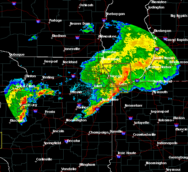 Radar Image for Severe Thunderstorms near Hobart, IN at 10/14/2017 9:07 PM CDT