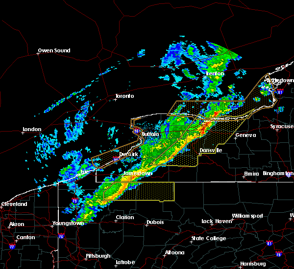 Radar Image for Severe Thunderstorms near Sodus, NY at 10/15/2017 5:01 PM EDT
