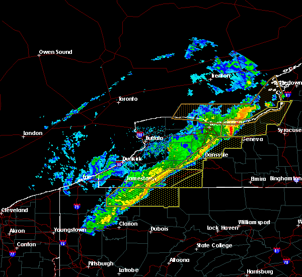 Radar Image for Severe Thunderstorms near Belfast, NY at 10/15/2017 5:23 PM EDT