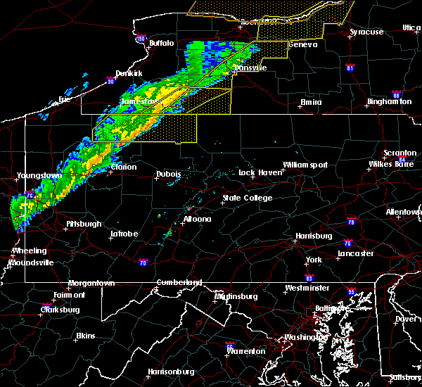 Radar Image for Severe Thunderstorms near Rew, PA at 10/15/2017 5:28 PM EDT