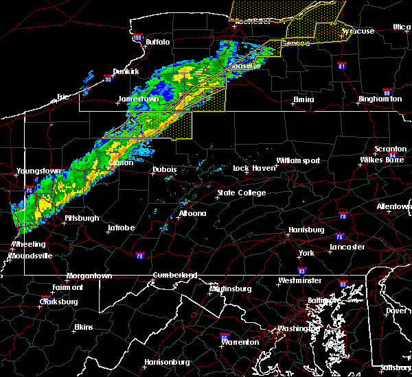 Radar Image for Severe Thunderstorms near Rew, PA at 10/15/2017 5:53 PM EDT