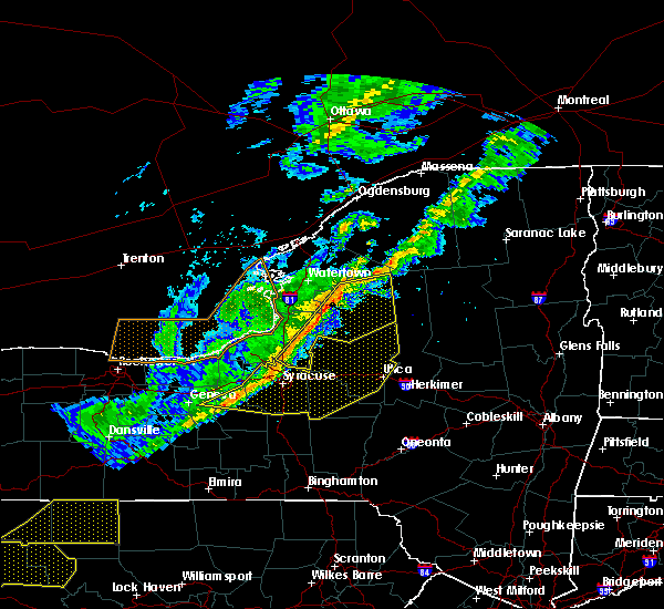 Radar Image for Severe Thunderstorms near Brewerton, NY at 10/15/2017 6:20 PM EDT
