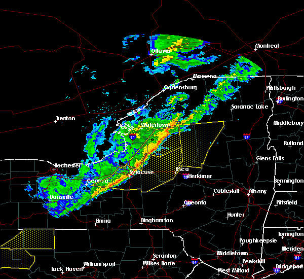 Radar Image for Severe Thunderstorms near Cold Brook, NY at 10/15/2017 6:33 PM EDT