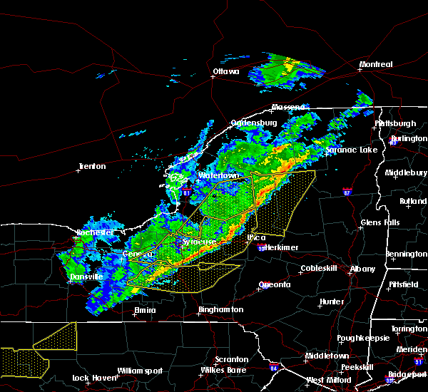 Radar Image for Severe Thunderstorms near Brewerton, NY at 10/15/2017 6:58 PM EDT