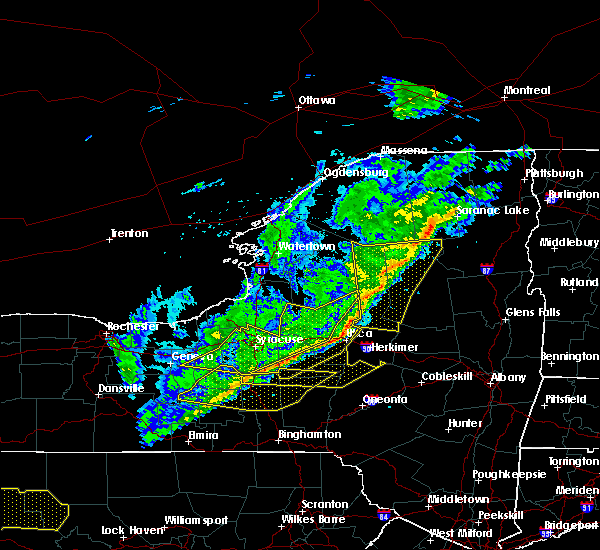 Radar Image for Severe Thunderstorms near Cazenovia, NY at 10/15/2017 7:09 PM EDT