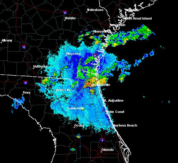Radar Image for Severe Thunderstorms near Jacksonville, FL at 10/16/2017 8:52 PM EDT