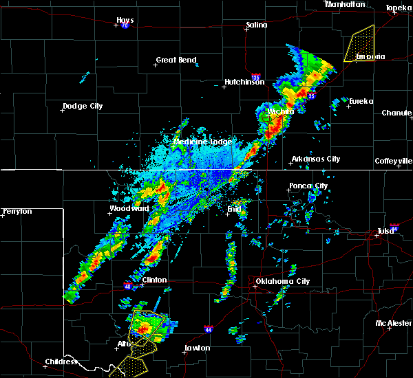 Radar Image for Severe Thunderstorms near Longdale, OK at 10/21/2017 4:28 PM CDT