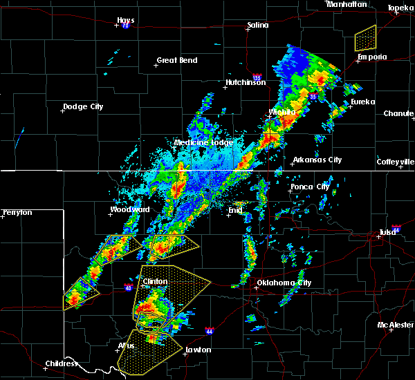 Radar Image for Severe Thunderstorms near Longdale, OK at 10/21/2017 4:49 PM CDT