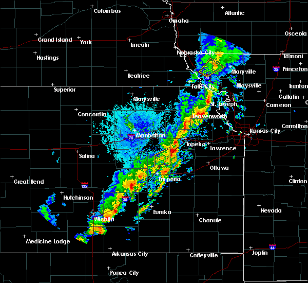 Radar Image for Severe Thunderstorms near Allen, KS at 10/21/2017 4:55 PM CDT