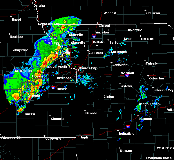 Radar Image for Severe Thunderstorms near Overbrook, KS at 10/21/2017 5:07 PM CDT