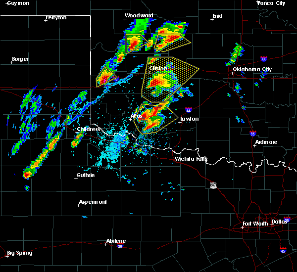 Radar Image for Severe Thunderstorms near Weatherford, OK at 10/21/2017 5:08 PM CDT