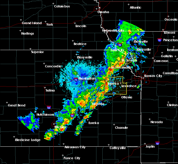 Radar Image for Severe Thunderstorms near Lancaster, KS at 10/21/2017 5:10 PM CDT