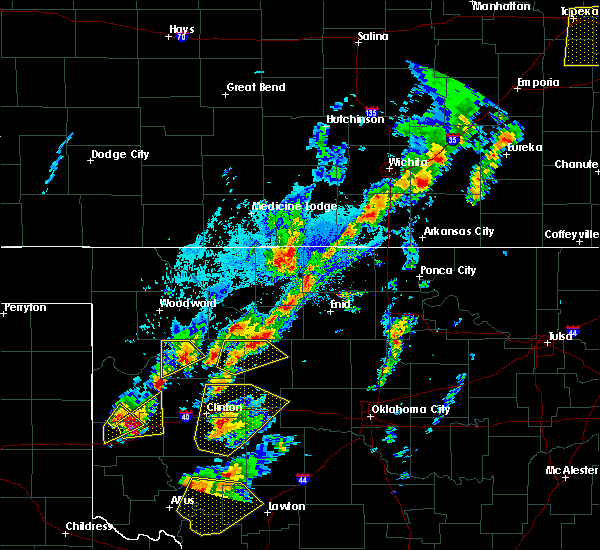 Radar Image for Severe Thunderstorms near Kremlin, OK at 10/21/2017 5:17 PM CDT