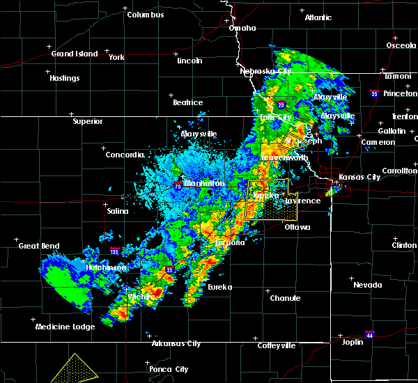 Radar Image for Severe Thunderstorms near Atchison, KS at 10/21/2017 5:29 PM CDT