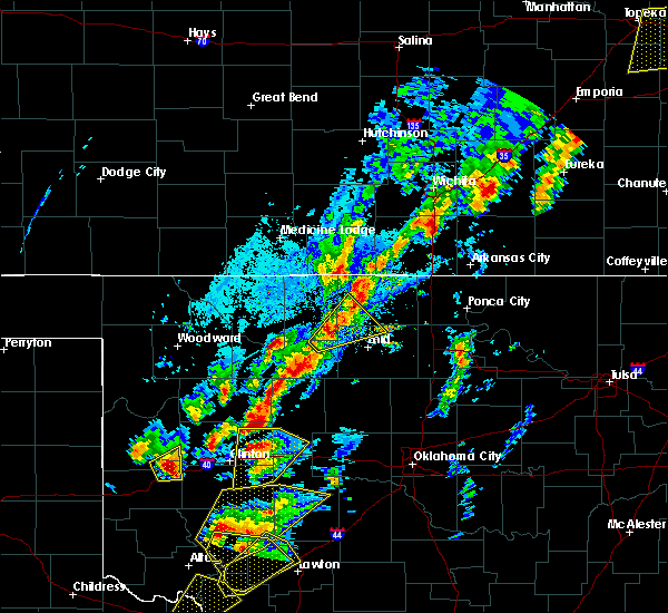 Radar Image for Severe Thunderstorms near Clinton, OK at 10/21/2017 5:32 PM CDT
