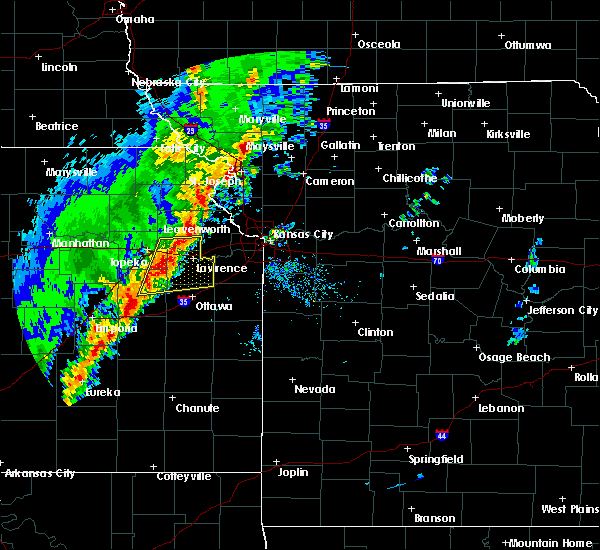 Radar Image for Severe Thunderstorms near Topeka, KS at 10/21/2017 5:54 PM CDT