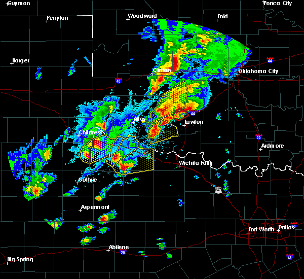Radar Image for Severe Thunderstorms near Frederick, OK at 10/21/2017 6:40 PM CDT
