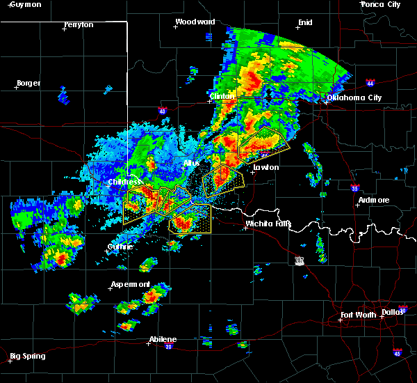 Radar Image for Severe Thunderstorms near Chillicothe, TX at 10/21/2017 6:55 PM CDT