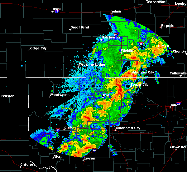 Radar Image for Severe Thunderstorms near Kaw City, OK at 10/21/2017 7:05 PM CDT