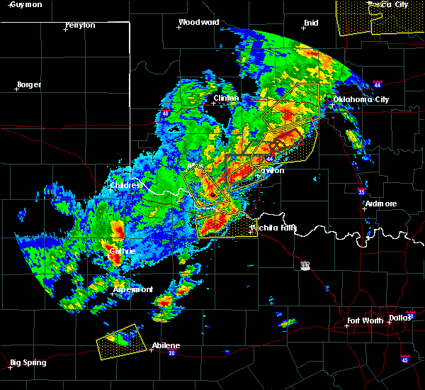 Radar Image for Severe Thunderstorms near Iowa Park, TX at 10/21/2017 7:45 PM CDT